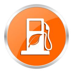 biofuel orange glossy icon