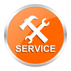 service orange glossy icon