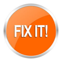 fix it orange glossy icon