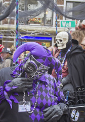 Mardi Gras Parade Jester and Skull