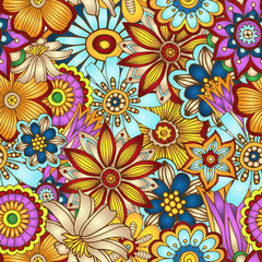 Abstract vector floral seamless background.