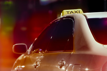 taxi in night city