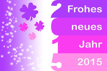 Pinke Neujahrsgrüße
