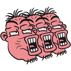 3 Verrückte Dumme Schreiende Idioten Freunde
