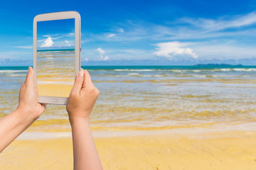 Tablet on the beach