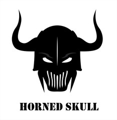 Horned Black skull