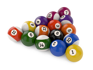 Pool balls triangle group