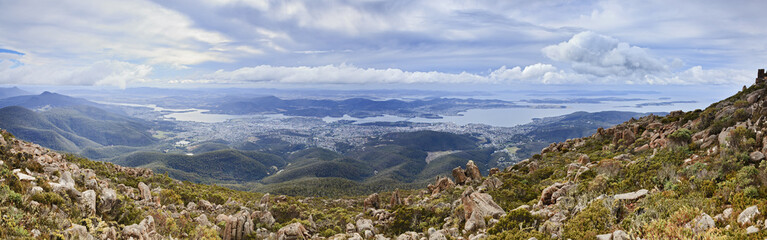 Hobart from Wellington Panorama