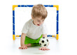 kid playing with soccer ball