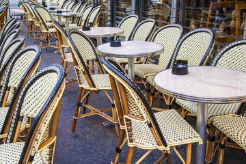 Paris, France. Summer outdoor cafes