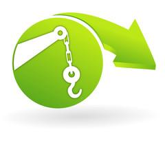 dépannage sur web symbole vert