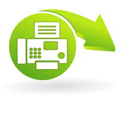 fax sur web symbole vert