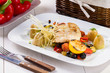 Fish with grilled vegetables