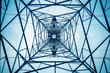 canvas print picture - electricity pylon