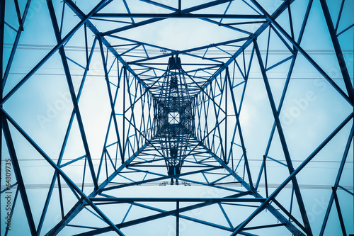 canvas print picture electricity pylon