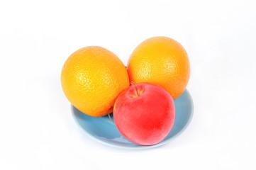 Апельсины с яблоком