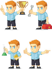 Red Head Boy Customizable Mascot 9