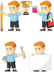 Red Head Boy Customizable Mascot 11