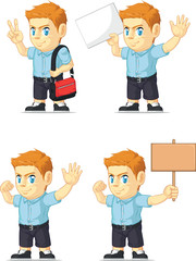 Red Head Boy Customizable Mascot 18