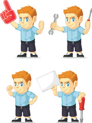 Red Head Boy Customizable Mascot 19