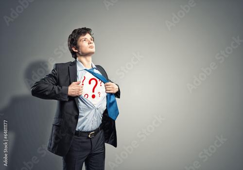 businessman breaks the shirt