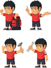 Soccer Boy Customizable Mascot 11