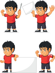 Soccer Boy Customizable Mascot 19