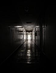 Light through window at corridor