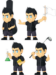 Spiky Rocker Boy Customizable Mascot 6