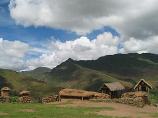 Village at Sacred valley in Peru