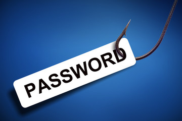 password phishing with digital background