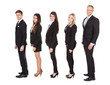 Welldressed Businesspeople Standing In A Line