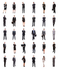 Collage Of Diverse Businesspeople