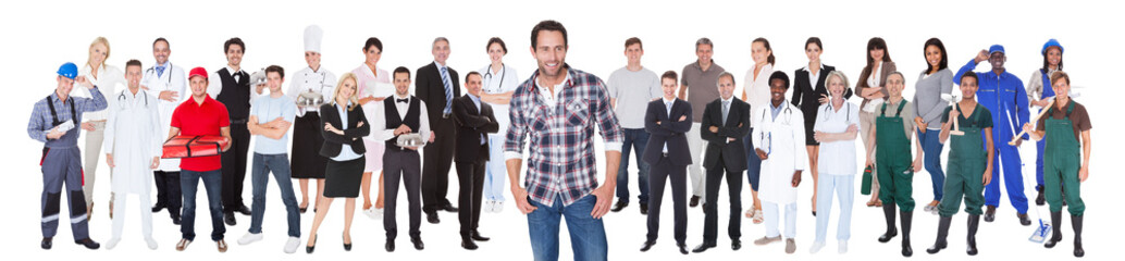 Diverse People With Different Occupations