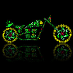 Motorcycle of ornament