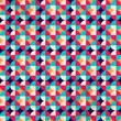 The pattern in retro style
