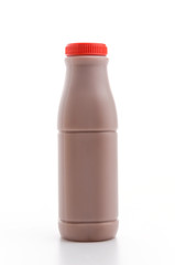 Chocolate milk isolated white background