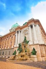 Matthias Fountain in Buda Castle courtyard