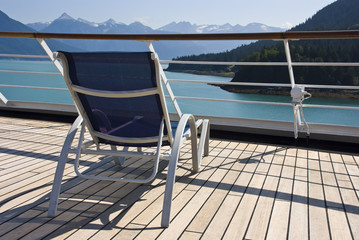 Alaska - Enjoy Haines - Relaxing On The Deck Of The Cruise Ship
