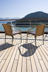 Alaska - Haines - Relaxing On The Deck Of The Cruise Ship