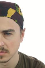 Caucasian Man half face