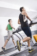 Two guys on treadmill