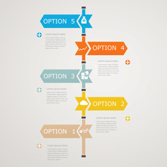 Timeline Infographic with business icons, step  structure to suc