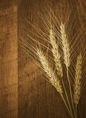 Wooden Wheat Background
