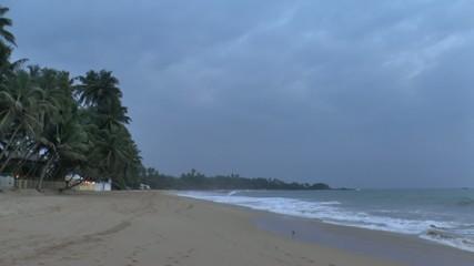 Evening on the ocean coast,Sri Lanka.
