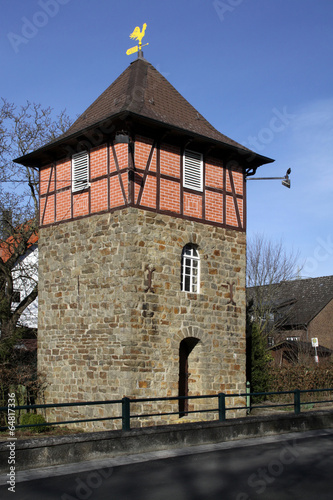 canvas print picture Glockenturm in Extertal-Meierberg