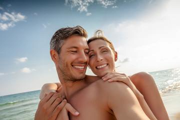 happy summer couple