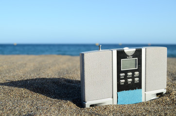 Vinatge Radio on the Beach