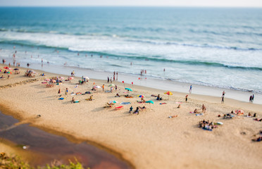 Beach on the Indian Ocean. India (tilt shift lens).