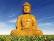 canvas print picture - Buddha Statue